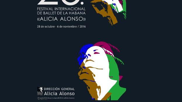 El cartel del XXV Festival Internacional de Ballet de La Habana.