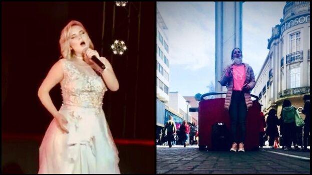 Zoylin Rose pasó de cantar en los teatros más grandes y reconocidos de Cuba a brindar su arte en las calles chilenas. (Cortesía)