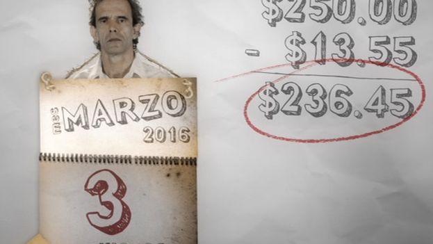 En poco más de 50 minutos, el guión detalla los gastos que debe afrontar este personaje de ficción, inspirado en el propio hermano del director. (Captura)