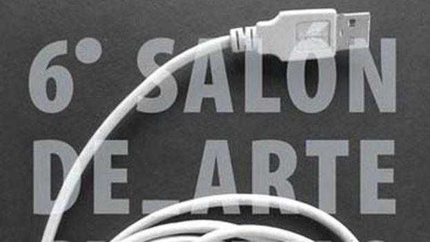 El cartel del sexto Salón de Arte Cubano Contemporáneo. (14ymedio)