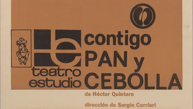 El cartel de 'Contigo pan y cebolla'.