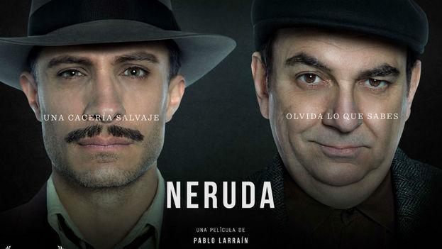 El cartel del filme chileno 'Neruda', de Pablo Larraín.