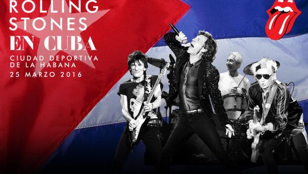 El cartel del concierto de los Rolling Stones en La Habana.
