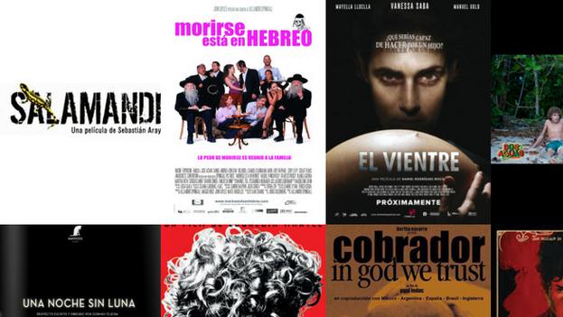 Los carteles de algunos proyectos producidos por Ibermedia.