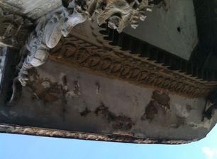Deterioro del techo del Palacio Guasch. (14ymedio)