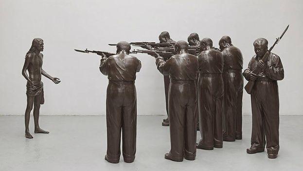 'La ejecución de Cristo', conjunto escultórico de bronce de los Gao Brothers