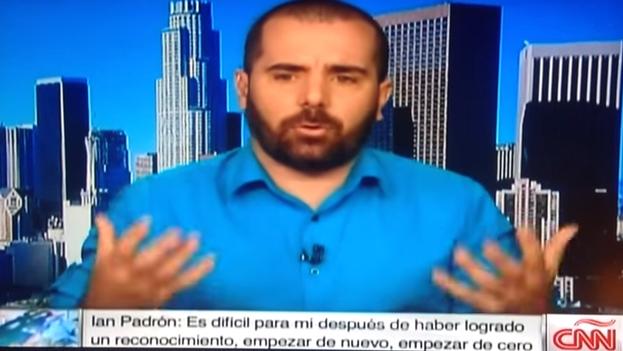 Un fotograma de la entrevista de Ian Padrón en CNN México.