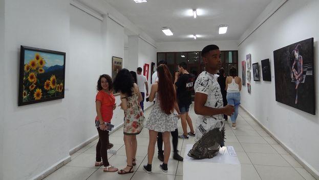 La cita artística inaugurada el pasado 2 de febrero se extenderá hasta los primeros días de marzo en el centro provincial de las Artes Plásticas. (14ymedio)