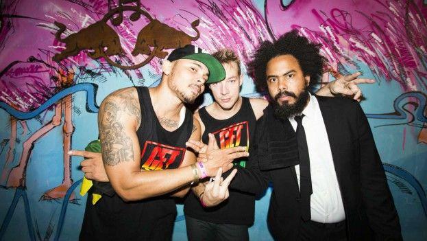 Los integrantes de la banda estadounidense de música electro house Major Lazer. (CC)