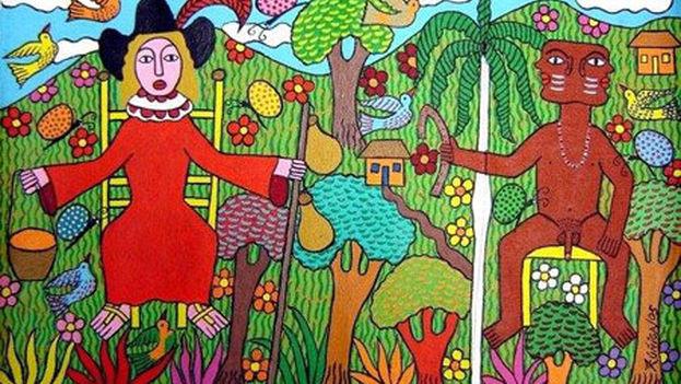 Una obra del cubano Lawrence Zúñiga.