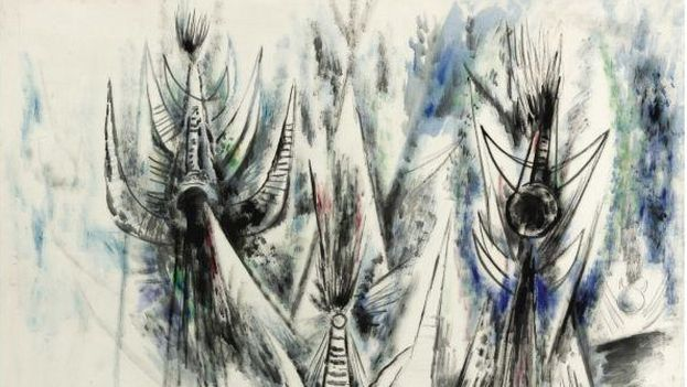 Les oiseaux voilés, de Wilfredo Lam