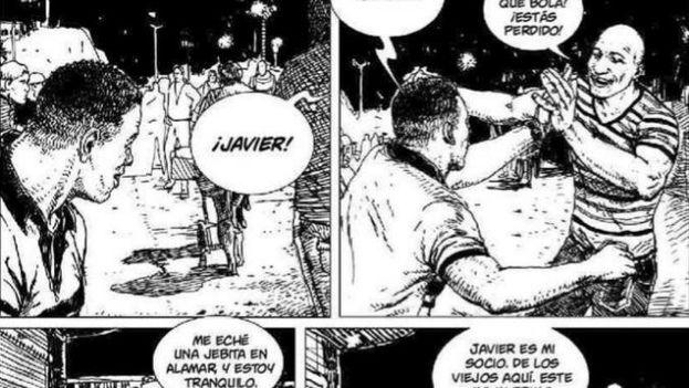 Una de las páginas del cómic 'Bim Bom'. (EFE)