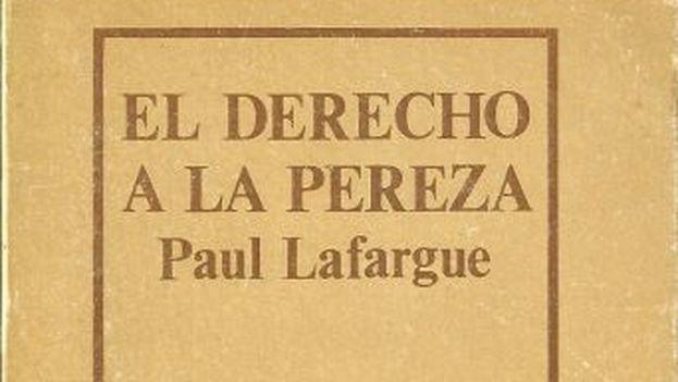 La portada de 'El derecho a la pereza', de Paul Lafargue.