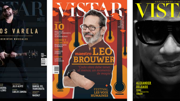Algunas portadas de la revista 'Vistar'.