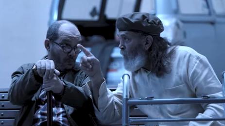 """""""Dos veteranos"""", un cortometraje de Eduardo del Llano. (Captura)"""
