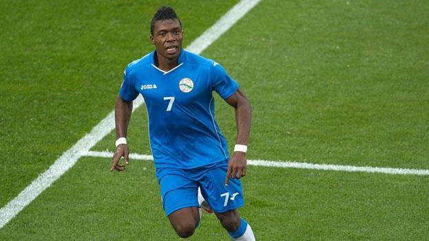 Arichel Hernández marcó los dos goles con los que Cuba alcanzó el empate frente a Canadá. (CONCACAF)