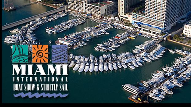 Cartel del evento náutico Miami International Boat Show 2015