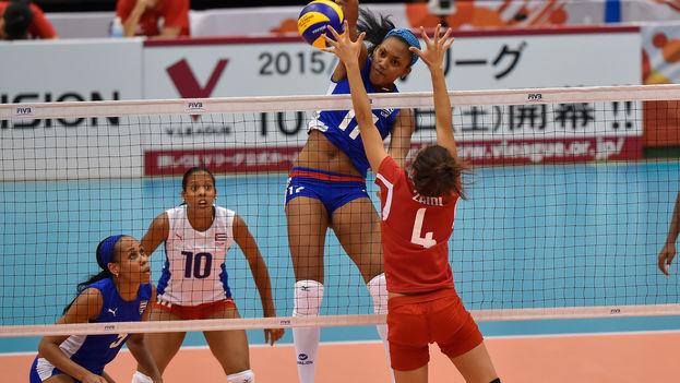 La cubana Heidy Casanova Álvarez en la Copa Mundial de Voleibol Femenino. (Volleyball World Cup)