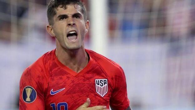 El futbolista estadounidense Christian Pulisic estará previsiblemente en la alineación de este viernes contra Cuba. (EFE/Alan Poizner)