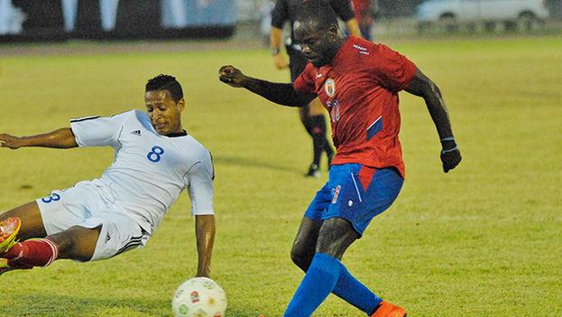 El partido entre Cuba y Haití en la Copa del Caribe de 2014. (Fotograma)