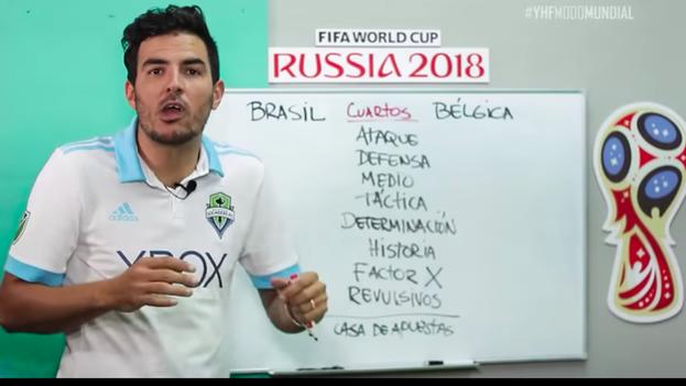 Daguito Valdés presenta su análisis para el partido de cuartos entre Brasil y Bélgica que se juega este viernes. (captura)