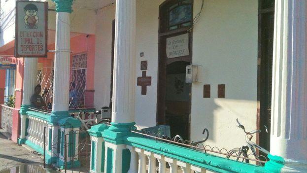 Sede de la Dirección Municipal de Deportes en Pinar del Río. (Juan Carlos Fernández/14ymedio)
