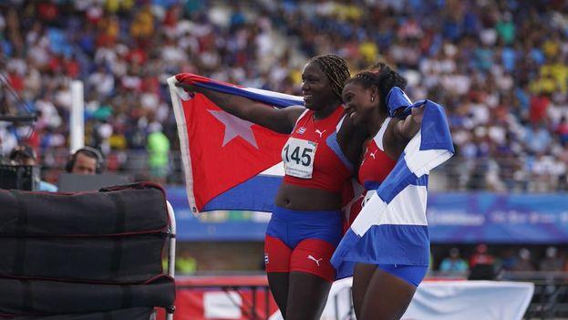 La plata y el bronce en atletismo fueron para Elianis Despaigne y Yaritza Martínez. (Barranqulla 2018)