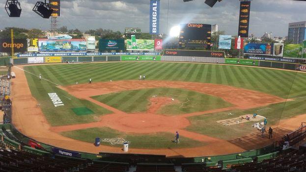 Estadio Quisqueya Juan Marichal donde se juega la Serie del Caribe 2016. (Twitter)