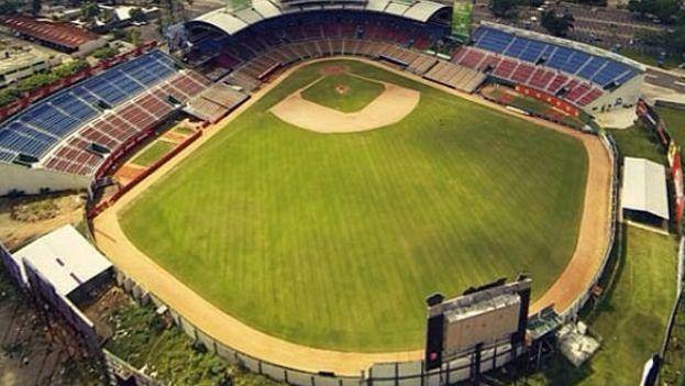 El Estadio Quisqueya de Santo Domingo.