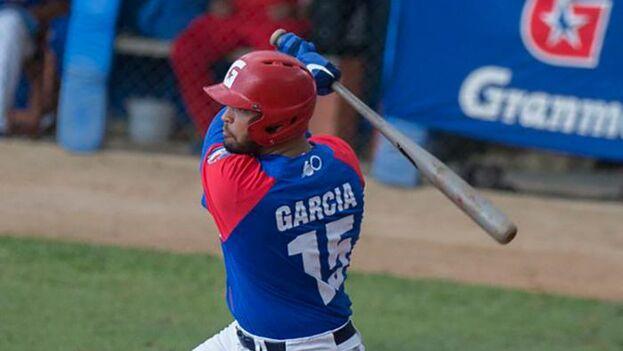 Guillermo García, uno de los jugadores alabados específicamente por el mánager, Eriel Sánchez. (Granma)