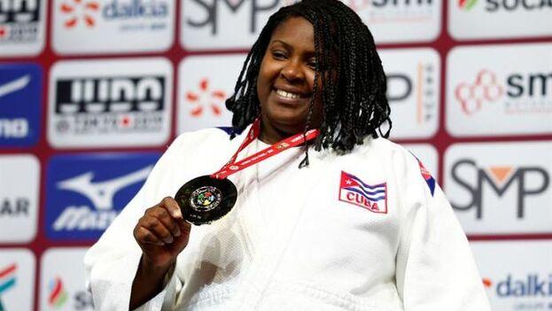 Idalys Ortiz fue bronce en Pekín 2008, oro en Londres 2012 y plata en Río de Janeiro 2016. (EFE)
