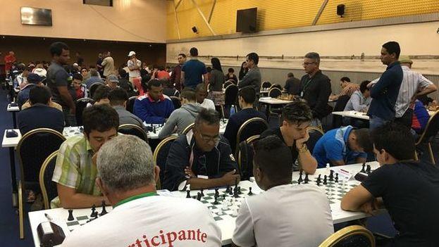 Jugadores en la edición 53 del Torneo Internacional de Ajedrez Capablanca In Memoriam en La Habana. (14ymedio)
