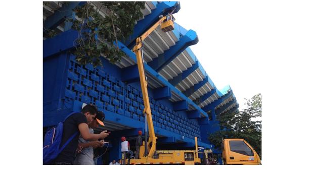 El estadio Latinoamericano ha recibido una reparación capital en sus áreas internas y también en las exteriores. (14ymedio)