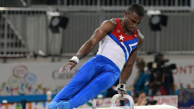 Manrique Larduet volverá a competir el próximo 16 en las pruebas de barras paralelas y barra fija. (Youtube)