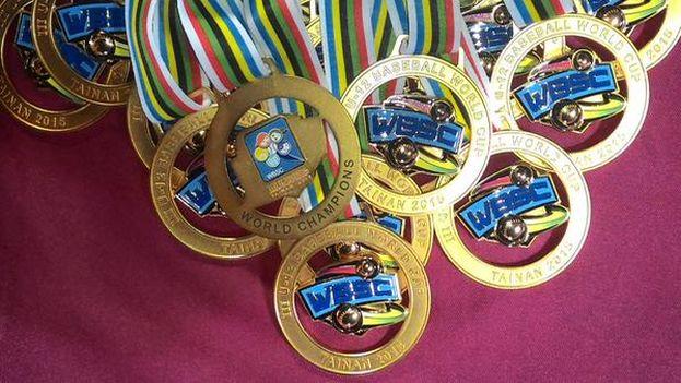 Medallas del Campeonato Mundial de Béisbol, categoría sub-12, disputado en Taipéi. (WBSC)