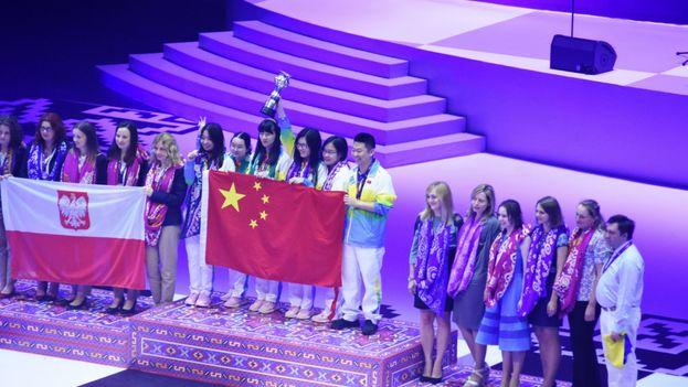 La ceremonia de clausura de la 42 Olimpíada de Ajedrez, en Baku. (Lana Afandiyeva)