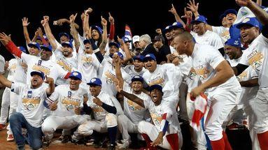 Panamá celebra su victoria en la Serie del Caribe de la que era anfitrión tras el serle la sede retirada a Barquisimeto. (El Pitazo)