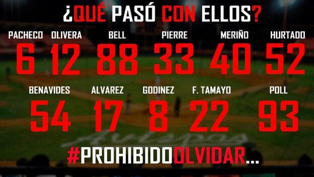 Peloteros que también fueron excluidos del homenaje en el estadio Guillermón Moncada. (Facebook)