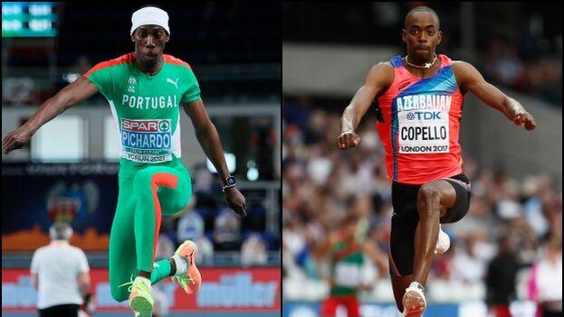 Los cubanos Pedro Pablo Pichardo y Alexis Copello compiten, respectivamente, para Portugal y Azerbaiyán. (Collage)