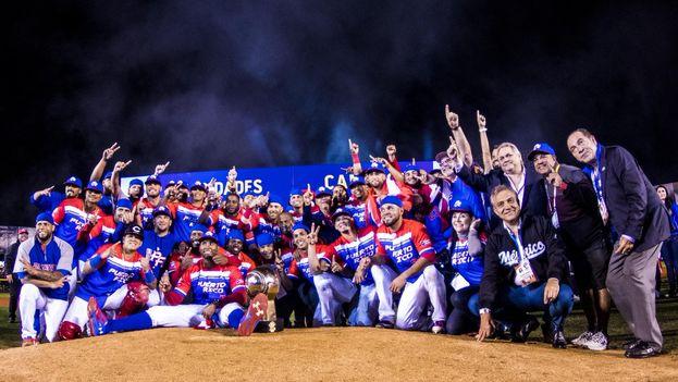 Puerto Rico se apuntó como bicampeón al ligar los títulos de las dos series que se jugaron en México, Culiacán 2017 y Guadalajara 2018. (@SDCJalisco2018)