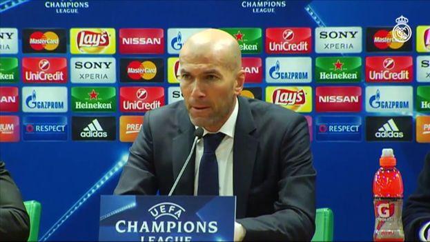 El entrenador del Real Madrid, Zinedine Zidane. (Fotograma)