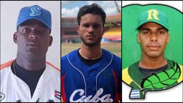 Reinaldo Lazaga, Dariel Fernandez y Dismany Palacios son los juveniles que abandonaron a la selección cubana en México. (Collage)