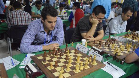Roberto Pantoja compitiendo en el Continental de Medellín. (Cortesía)