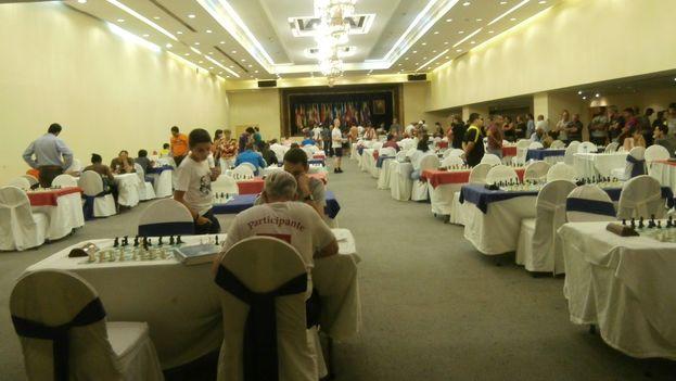 Salón de los Embajadores este miércoles durante la tercera jornada del Capablanca. (14ymedio)