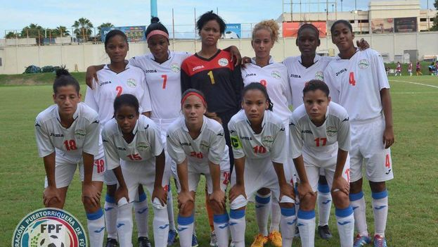 El equipo femenino de fútbol Sub 17 de la Isla. (Federación Portorriqueña de Fútbol)