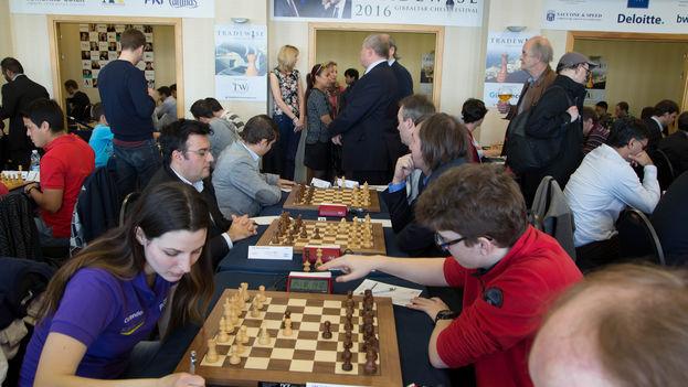 La primera ronda del Torneo Abierto de Gibraltar. (Sophie Triay)