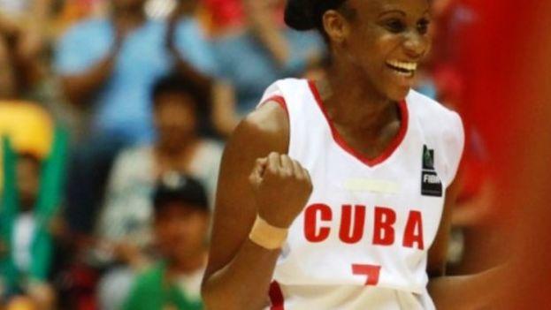 El equipo femenino cubano de baloncesto en Veracruz 2014. (XXII JUEGOS CENTROAMERICANOS Y DEL CARIBE)