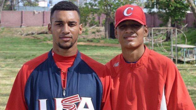 Víctor Víctor Mesa y Víctor Mesa Jr. dejaron la Isla para probar suerte en el extranjero, especialmente en las Grandes Ligas estadounidenses. (El Nuevo Herald)