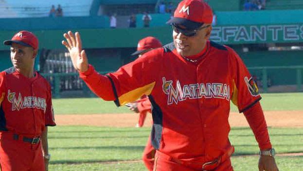 Víctor Mesa, tan controvertido y destemplado, ha demostrado ser un manager de garra y tesón singulares ante la escuadra de Matanzas. (Internet)