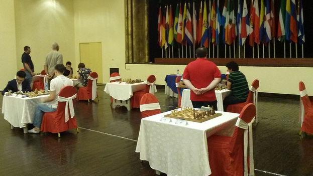 El encuentro entre Yu Yangyi y Dmitry Andreikin tuvo en vilo a los aficionados reunidos en el Salón de los Embajadores. (14ymedio)